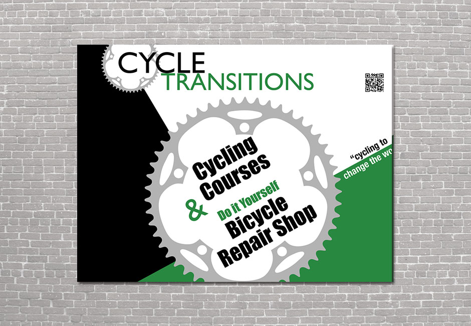 Cycle Transitions Outdoor Sign