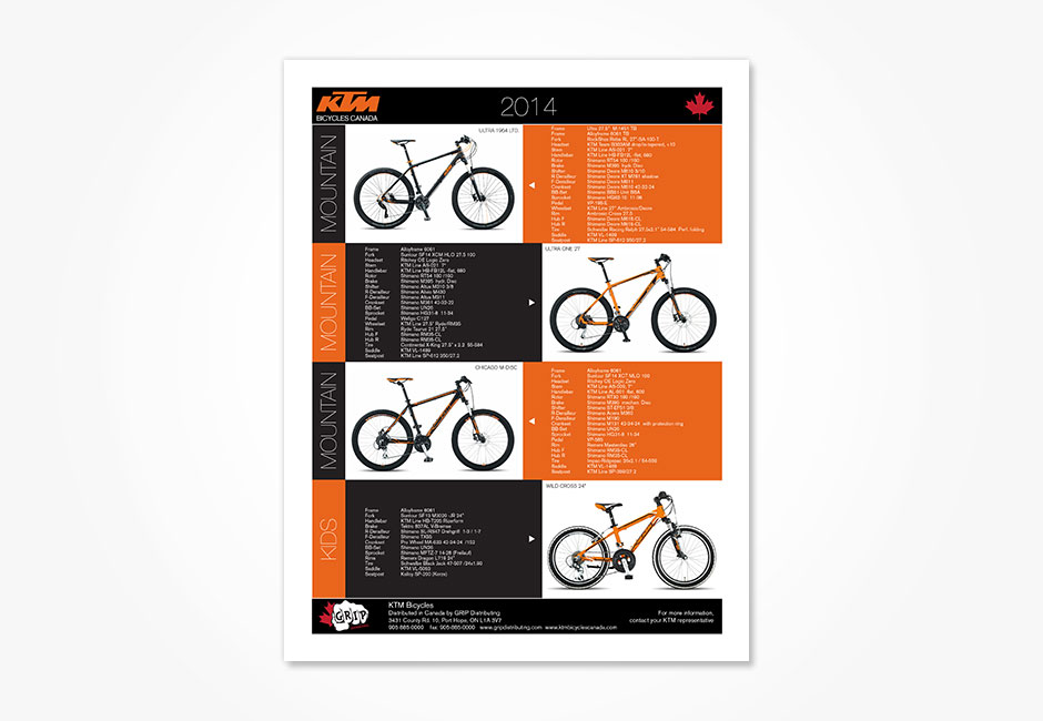 KTM Bicycles Canada Poster