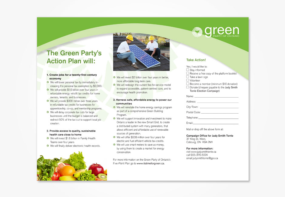 Green Party of Ontario Brochure